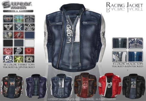 "The new jacket from L&B ""Racing."""