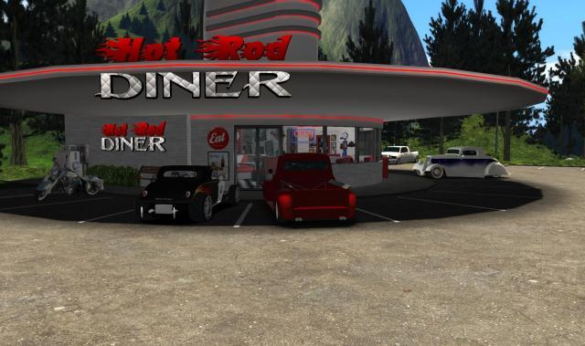 Hot Rod Diner outside