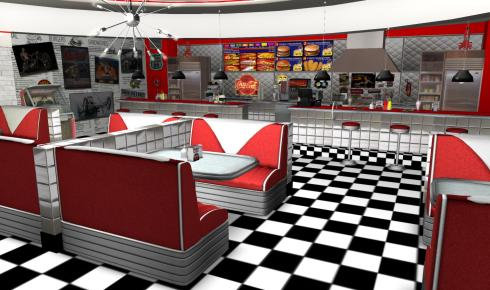 Inside the Hot Rod Diner