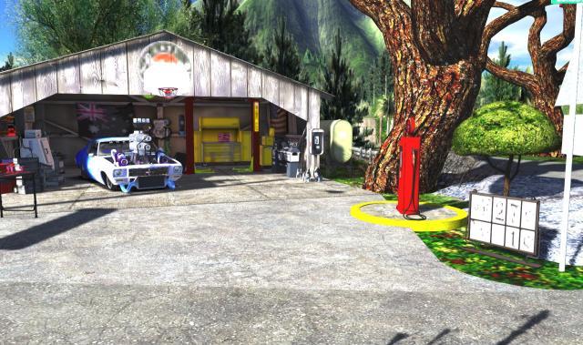 The roadside garage