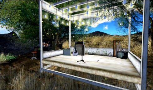 The band stage