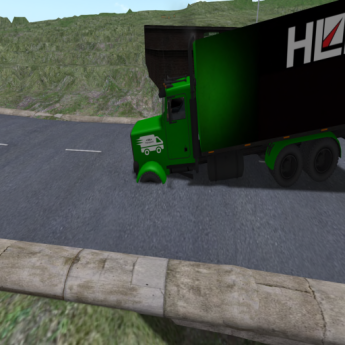How my truck sank before Guy fixed the sim crossing.