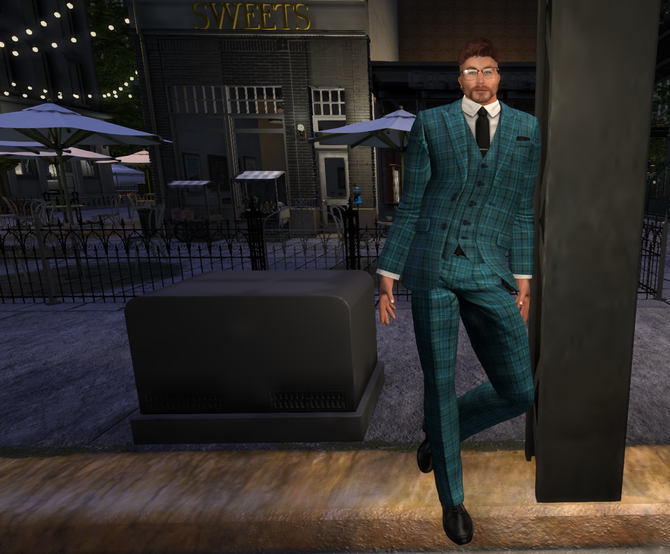gage 3 piece check suit